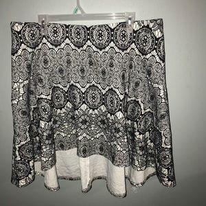 Torrid B&W Lace Skater Skirt